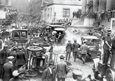 Aftermath of the Wall Street bombing (New York Daily News, 1920)