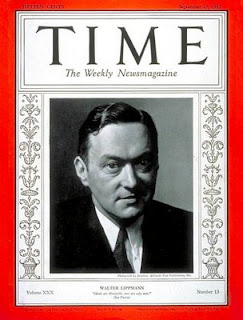 Walter Lippmann (Time cover, Sep. 1937)