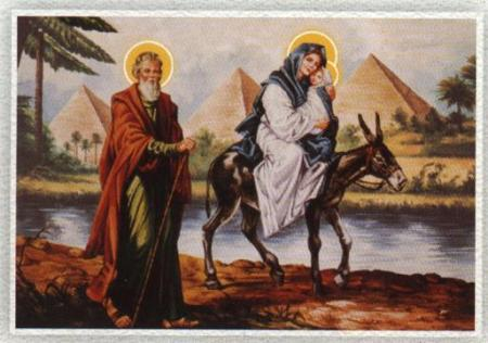 Hoy family's flight to Egypt