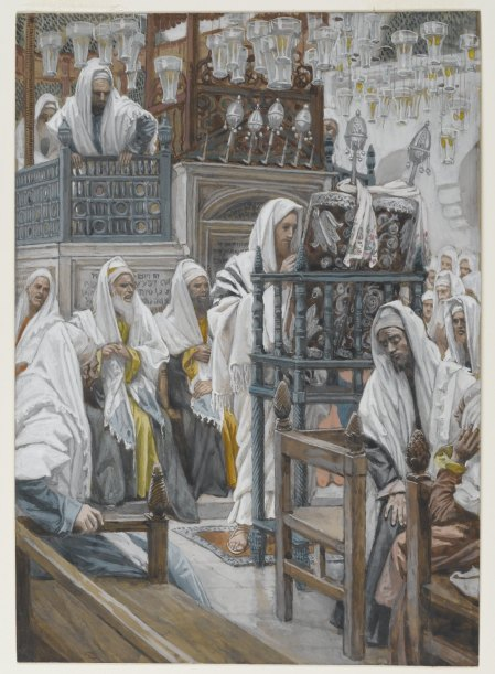 Jesus Unrolls the Book in the Synagogue (James Tissot (French, 1886-1894)