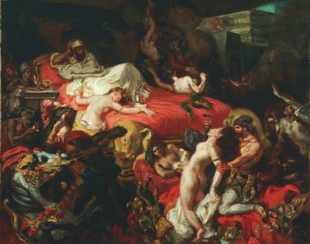 Death of Sardanapalus, Delacroix, 1844)
