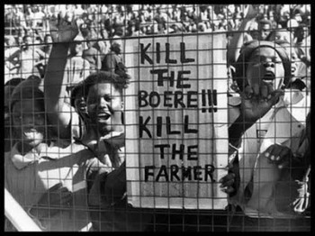 Kill the boer! (Zimbabwe slogan)