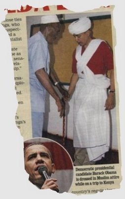 Obama playing Muslim (Kenya)
