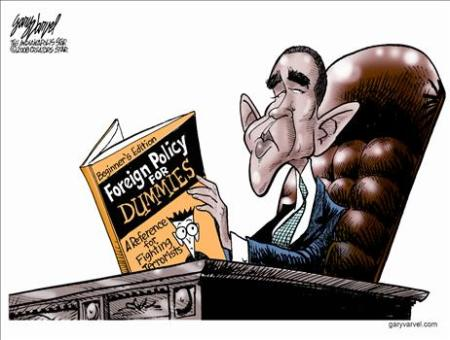 Foreign policy for dummies (Obama cartoon)