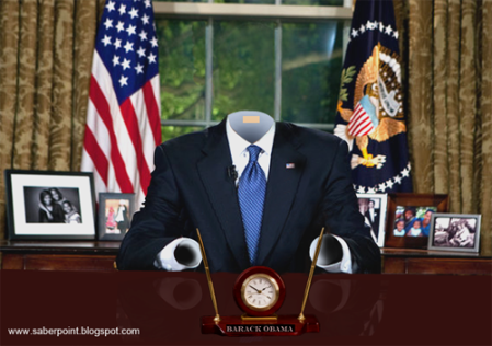Empty suited Obama