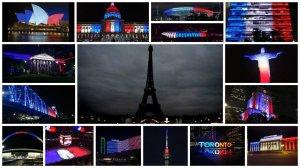 hommage-attentats-paris-13-novembre-2015-couleur-drapeau-français-monument-monde