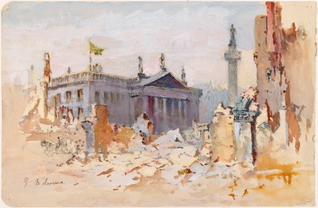 The Ruins of O'Connell Street (Edmond Delgrenne, 1916)