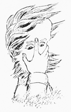This drawing is a self-portrait of Charles Dodgson (Lewis Carroll).