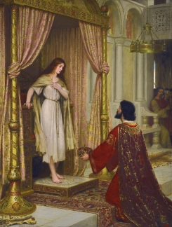 A king and a beggar maid *oil on canvas *163 x 123 cm *signed b.l.: E.BLAIR LEIGHTON . 1898