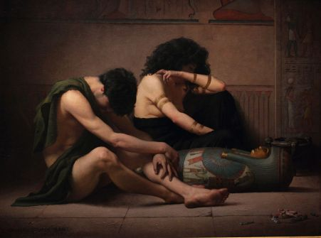 Lamentations over the Death of the First-Born of Egypt (Charles Sprague Pearce, 1877)