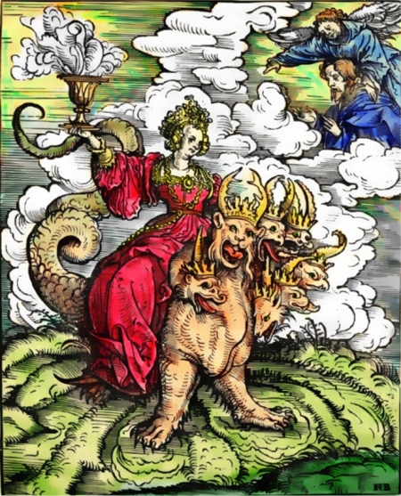 The Whore of Babylon (Hans Burgkmair the Elder, 1523)