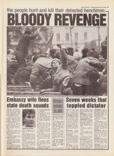 Hold The Front Page: Romania's Ceausescu and Wife Executed (1989)